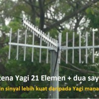 Antena Penguat Sinyal Yagi 21 Element 15m Pigtail Ganda Modem Mifi