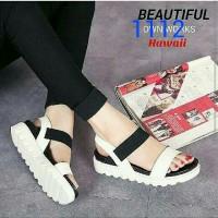 Flat shoes docmart hitam putih