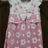Dress Harian/Baju Harian Anak Perempuan Polka Flower - Orange