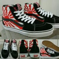 Sepatu Skate Vans SK8High Hosoi Japan Flag Black Red