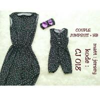 Size S (1-2y) + Mom (Allsize) Couple Jumpsuit + Headband Bayi Anak