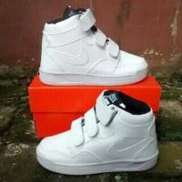 sepatu anak nike full putih tinggi murah + box