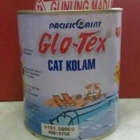 CAT KOLAM GLOTEX BIRU PUTIH 1 KG / KOLAM IKAN RENANG BERENANG BAK AIR