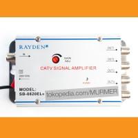 Splitter Antena TV Cabang 4 Way CATV Signal Amplifier Rayden SB-8820EL
