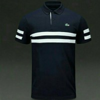 Polo Shirt/ Kaos Polo/ Kaos Kerah Crocodile Black Strip