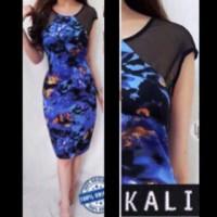 kalijati bodycon scuba sunset dress dress branded murah