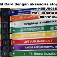 Tali id card 2cm + stopper + sablon 1 sisi 1 warna