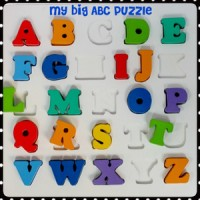 Mainan Edukatif / Edukasi Anak - Puzzle Balok Kayu - Alphabet Chunky B