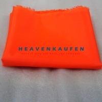 Bahan Kain Furing Parasut WP Orange Water Resistance 1 m x 1,5 m