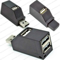 Aksesoris PC Laptop Notebook Pocket USB 2 Hub Mungil 3Port SuperSpeed