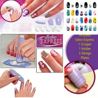 Salon Express Nail Art Stamping Kit - Alat Penggambar Kuku