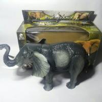 Mainan Gajah Elephant Animal World 3D