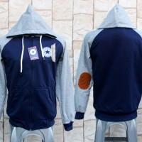 Jaket Converse All Star Navy Abu / Biru Dongker (Hoodie/jumper/Switer)