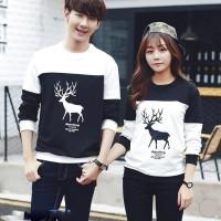 Kaos Baju Coupel Lengan Panjang Couple | Baju kopel | Kaos Kembar AK20