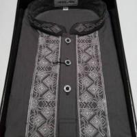 Baju muslim/Baju Koko Atlas premium warna abu