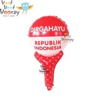Balon Foil Mini Pentungan HUT DIRGAHAYU RI / Hiasan 17 Agustus