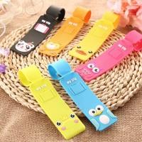 tag koper kartun hewan lucu / cute animal silicone luggage tag STK004 - Hijau
