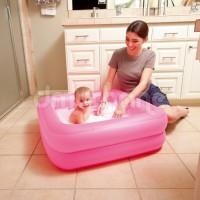 Mainan Anak Toys Kolam Renang Bak Mandi Bayi Steps Kotak Bestway Pink