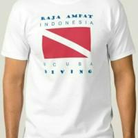 kaos/tshirt/baju RAJA AMPAT SCUBA DIVING INDONESIA