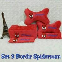 Bantal Mobil 3 in 1 SPIDERMAN Merah