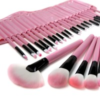 BRUSH SET PINK / KUAS SET MAKE UP FOR YOU PINK SET ISI 24