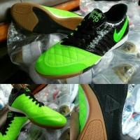 Sepatu Futsal Nike Lunar Gato hyperfuse grade ORI / hitam hijau