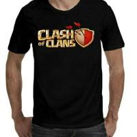 kaos coc font/baju/t-shirt COC FONT (BLACK COLOUR)