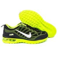 Sepatu Running Sport Casual Nike Air Max Stripe Hitam Hijau