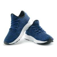 Sepatu Running Sport Casual Nike Free Yeezy Casual Men Biru Hitam