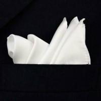 pocket square white sapu tangan jas (untuk kantong)