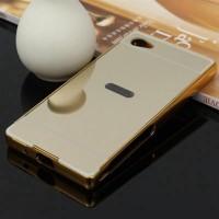 Sony Xperia Z5 Compact Metal Bumper Mirror Back Cover Case Casing Unik