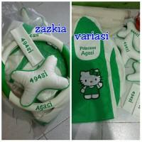sarung jok mobil ayla/agya hello kitty green white