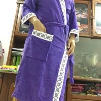 kimono baju Handuk dewasa polos list putih ukuran XL