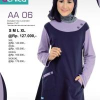 Atasan Alnita AA-06 Dongker Baju Muslim Bahan Kaos CVC