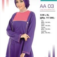 Atasan Alnita AA-03 Ungu Baju Muslim Bahan Kaos CVC