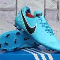sepatu bola Nike Tiempo Legend Biru Muda Kw Super (terbaru,murah,2016)