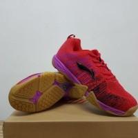 Sepatu Badminton Lining Bolt Red Purple AYTK 113-3 Original