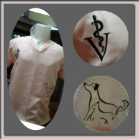 Baju Praktek Mahasiswa Kedokteran Hewan / Vet Scrub Suit - Baby Pink