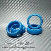 Rep Tamiya 94943 Super Hard Arched Tires / Ban L Marking Blue (BML02)