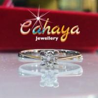 cincin emas putih mata satu
