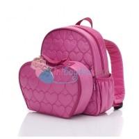 Babymel Girls Heart Rucksack Color Pink