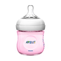 Philips Avent Bottle Natural 125ml Pink Botol Susu Bayi SCF690 125 ml