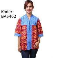Blus Batik Cap Pola Bahu Tunik