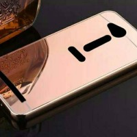 Metal Bumper Slide Mirror Back Cover Case Asus Zenfone Go Mini 4.5