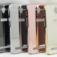 Metal Bumper Slide Mirror Back Cover Case Casing Asus Zenfone Go 5