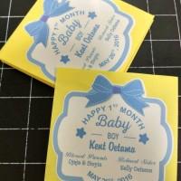 Sticker Baby Shower Baby Boy, Sticker Aqiqah, One month baby boy