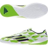 sepatu futsal adidas f10 in putih hijau original