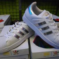 sepatu adidas superstar putih silver vietnam man cowok pria 36-44