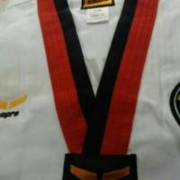 Baju Taekwondo Empro Merah Hitam Dobok Tekwondo Poom