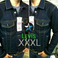 Jaket Jeans Levis Xxxl Blueblack Dongker